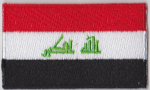 Iraq Embroidered Flag Patch, style 04